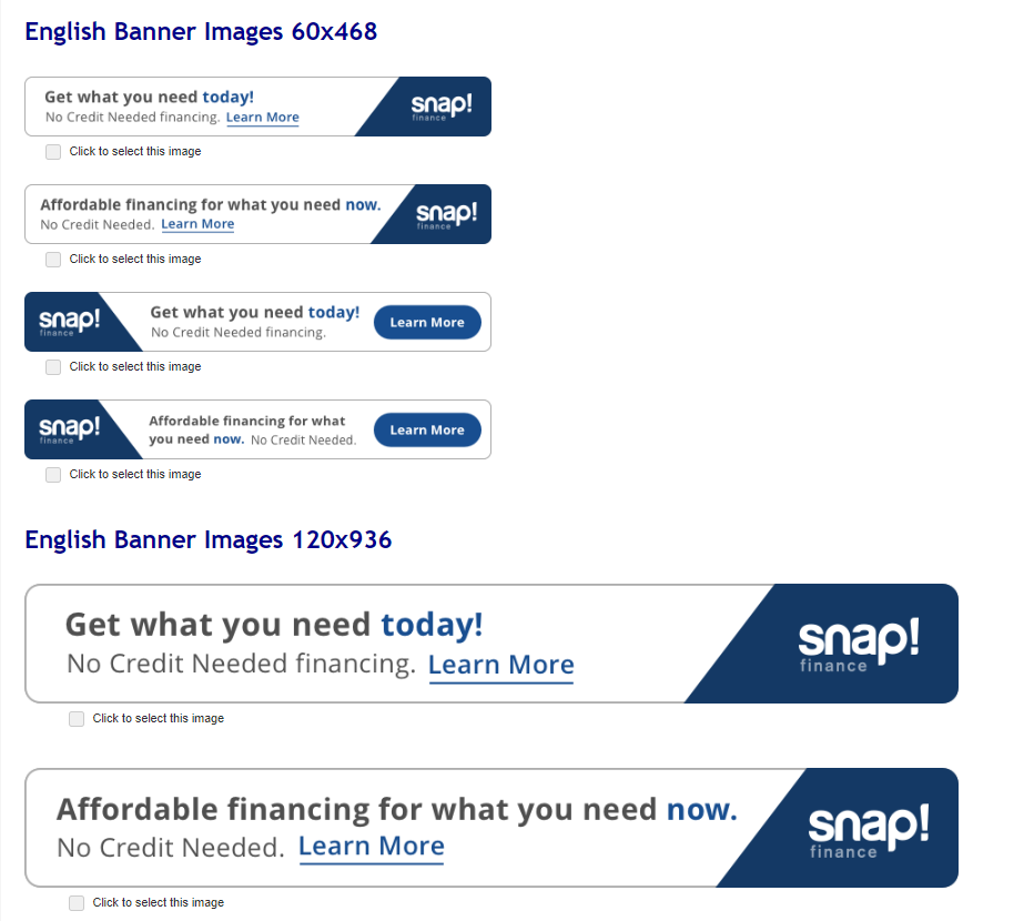 embed a Snap Checkout Lite banner